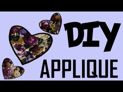 How to Make Appliques with a Sewing Machine | DIY Easy Heart Applique