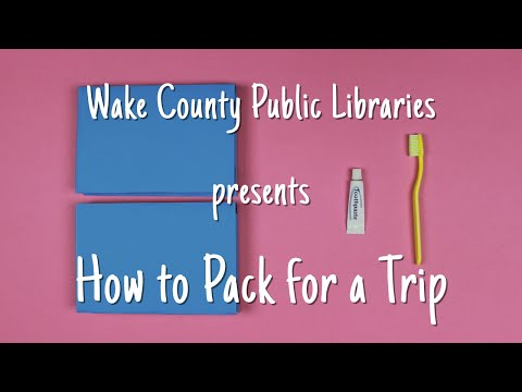 Library Card Sign-up Month: How to Pack for a Trip