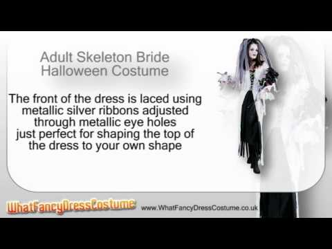 Adult Skeleton Bride Halloween Costume