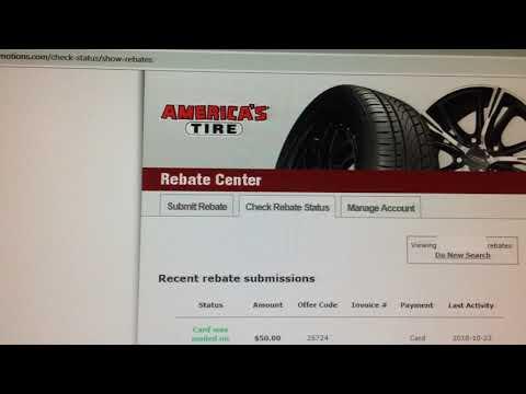My 1st Time Claiming Rebate at America's Tires.  3 weeks to get Rebate Gift Card