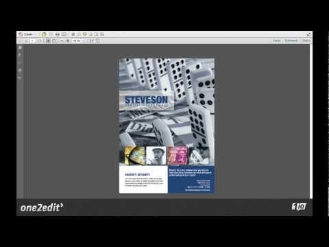08: Export High-Resolution PDFs of completed InDesign® Documents from one2edit™