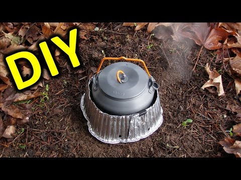 How to build a $1.00 windscreen for a backpacker stove.  (Alcohol Stoves & Others)