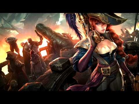 League Of Legends: Captain Fortune Custom login screen