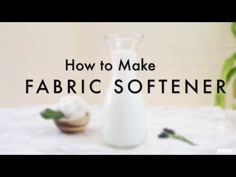 How to Make Liquid Fabric Softener