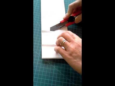How to cut V, U & large U cuts in foam core