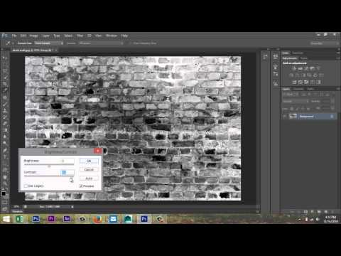 Create a simple Bump map in Photoshop for use in Maya