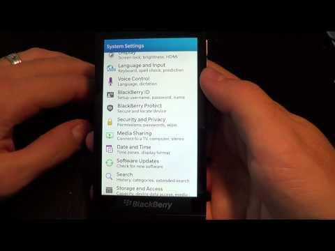 BlackBerry 10 Setup and Settings