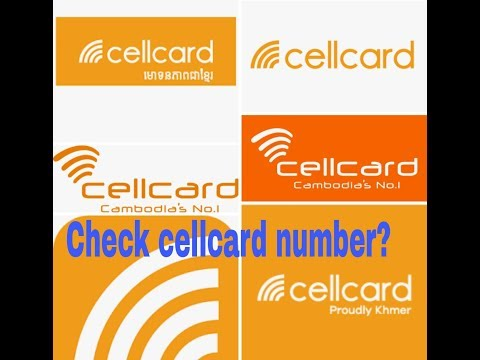 how to check cellcard number? khmer, cambodia
