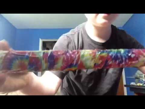 DIY lacrosse stick with duck tape