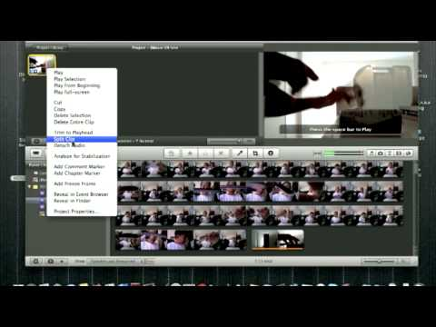 How to ramped slo mo in imovie 09'