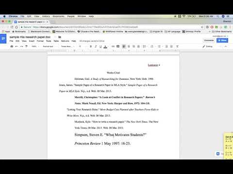 Formatting Your Research Paper on Google Docs