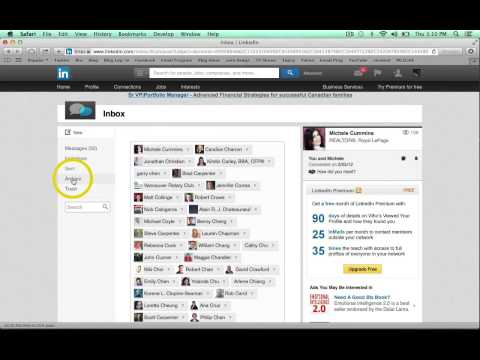 How to send an email to all your contacts in Linkedin with Vancouver mortgage broker Mark Fidgett