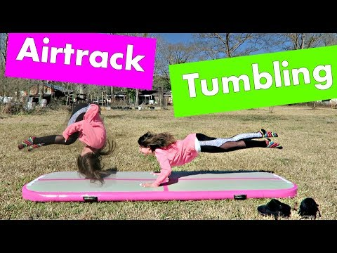 SILIVN Inflatable Air Gymnastics Mat Review | Tumbling W/Lydia Hope
