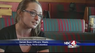 Server buys officers' meals