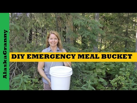 DIY Emergency Food Kit - Emergency Meal Bucket
