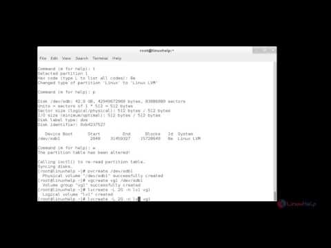 How to create and setup LUNs using LVM