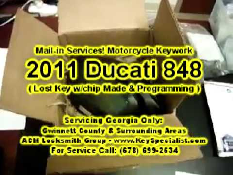 By Mail-In Services! Ducati Lost Key Replacement & Chip Programming for Ducati 796 848 1098 1198.