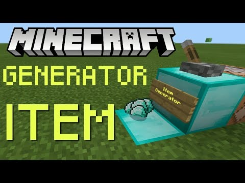 How to make an item generator in Minecraft!