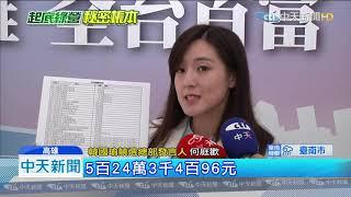 20190815中天新聞 綠營用政治獻金買酒 黃偉哲、吳沛憶在列