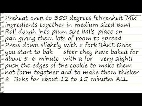 Recipe Peanut Butter Cookies[no Flour!]