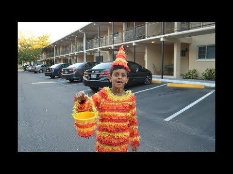 DIY Fancy dress up costume for kids/Halloween costume/Pinata dress up.