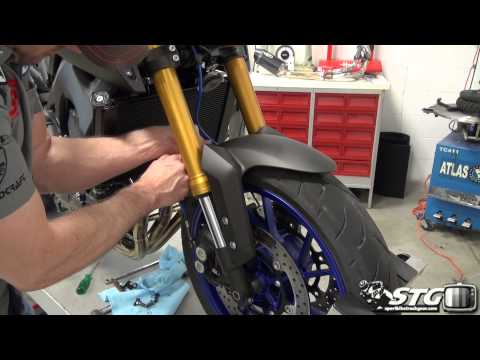 How to Install Spiegler Front Brake Lines on 2014 Yamaha FZ-09 from Sportbiketrackgear.com