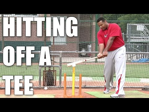 Carlos Lee - Hitting Off a Batting Tee - Drills to Stay Sharp