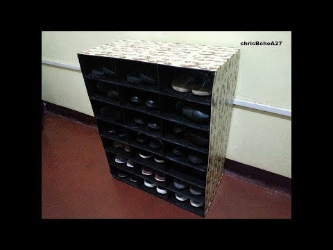 DIY# 58 Space Saver Shoe Rack From Recycled Organizer #1