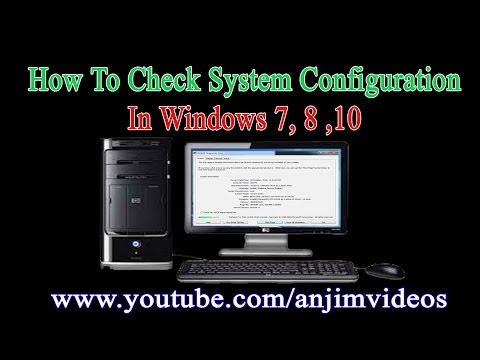 How To Check your system configuration in telugu    Check Desktop Computer Configuration In Telugu