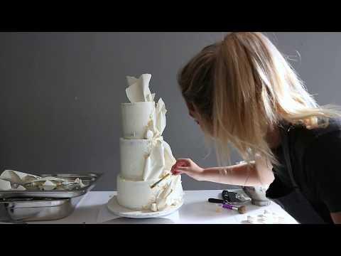 White Chocolate Wedding Cake | Ellie Wharrad