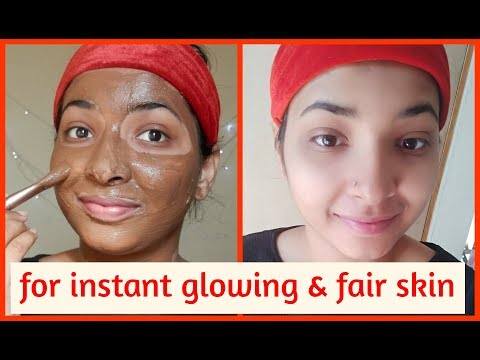 face pack for INSTANT glowing & fair skin   LIVE DEMO   ALL SKIN TYPES    Chocolate face pack