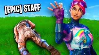 TROLLING EPIC STAFF In Fortnite Battle Royale!