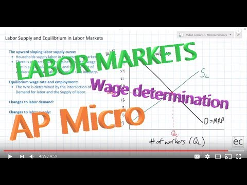 Labor Supply and Equilibrium in Labor Markets