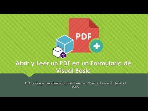TIPS | Abrir y Leer un PDF en Visual Basic