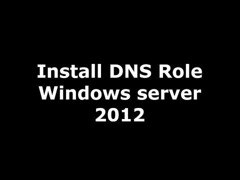 كيفية تنصيب واعداد الـ DNS Role ويندوز سيرفر 2012
