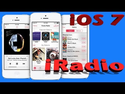 iOS 7 iRadio (iTunes Radio) REVIEW DEMO Walkthrough | Interactive video