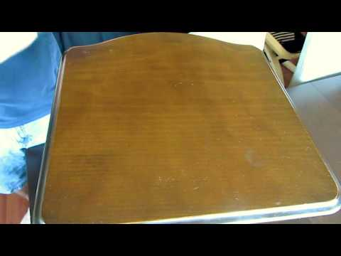 Super Easy way to remove a water stain on wood furniture
