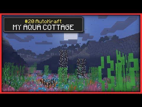 Minecraft - MY AQUA COTTAGE [ AutoKraft Lets Play #20 ] Console / MCPE / Bedrock