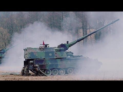 German Soldiers Fire Panzerhaubitze 2000s