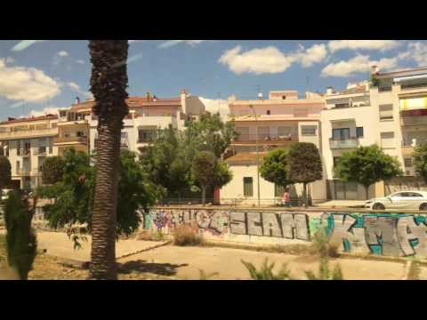 Ride from Barcelona to Sitges - 4K