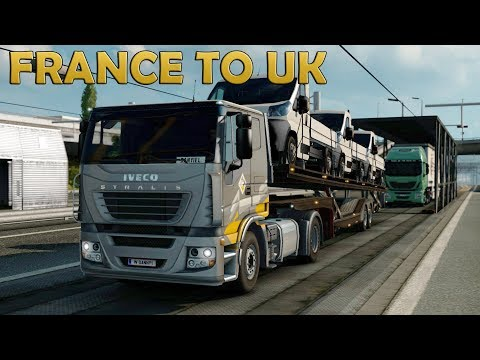 ETS2 Delivering Peugeots from France to England (Euro Truck Simulator 2)