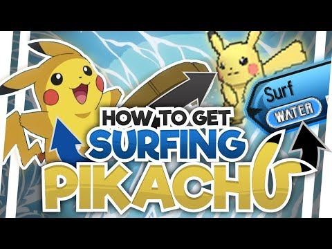 SURFING PIKACHU in POKEMON ULTRA SUN AND MOON! HOW TO GET SURFING PIKACHU IN ULTRA SUN AND MOON