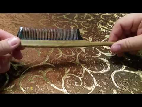 Le Prestige Polished Green Sandalwood Buffalo Horn Rat Tail Comb
