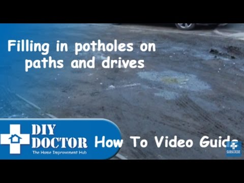 Using Scalpings to repair and fill potholes on drives and pathways