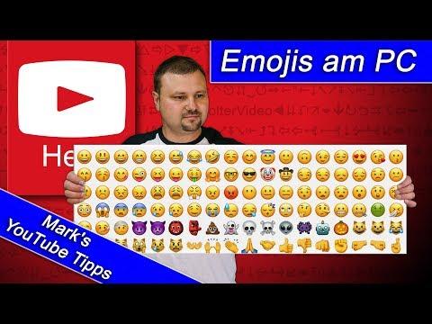 ⚠️ Emoji für Computer 👀 So verwendet ihr Emojis in YouTube 👍🏼...