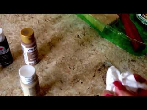 DIY faux granite kitchen countertops