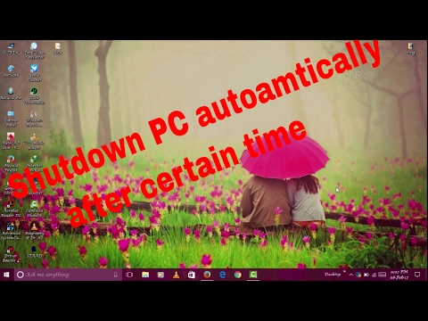 Shutdown ur PC automatically after a certain time using CMD without any software in win 10/8/7