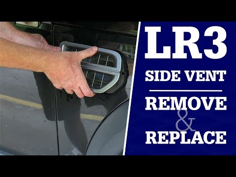 How to Remove the Intake grill on an LR3 / RRS / LR4