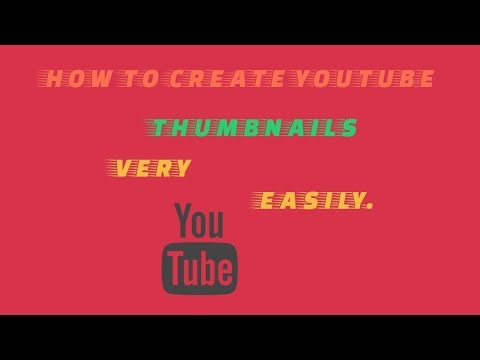 How to make YOUTUBE thumbnails very easily......