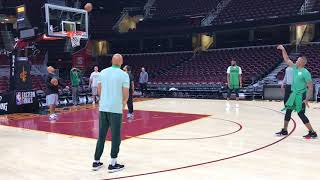 Terry Rozier wins 3-point shooting game at Boston Celtics practice